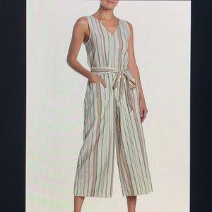 BeachLunchLounge striped Linen Blend Jumpsuit
